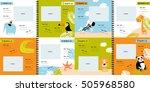vector photo book with cartoon... | Shutterstock .eps vector #505968580