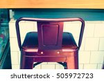 bar chairs in cafe. | Shutterstock . vector #505972723