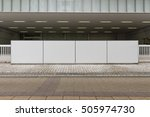 large blank billboard on a... | Shutterstock . vector #505974730