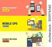 nfc payment.gps navigation...   Shutterstock .eps vector #505976560