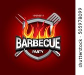 barbecue party logo  party... | Shutterstock .eps vector #505978099