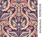 seamless paisley background ... | Shutterstock .eps vector #505982140