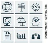 set of 9 universal editable... | Shutterstock .eps vector #505982488