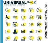 set of 25 universal editable... | Shutterstock .eps vector #505987240