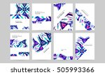 geometric background template... | Shutterstock .eps vector #505993366