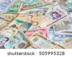 variety of middle east banknotes | Shutterstock . vector #505995328