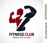 fitness vector logo design... | Shutterstock .eps vector #505996504