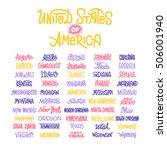 custom lettering of the names...   Shutterstock .eps vector #506001940