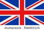 united kingdom flag. vector... | Shutterstock .eps vector #506002123