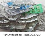 empty blister packs from tablets | Shutterstock . vector #506002720