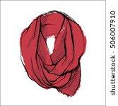 watercolor accessory. ladies... | Shutterstock .eps vector #506007910