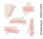 vermont  maine  massachusetts ... | Shutterstock .eps vector #506011069