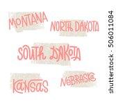 montana  north dakota  south... | Shutterstock .eps vector #506011084
