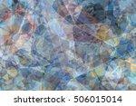Blue Kaleidoscope Abstract...