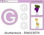 cartoon grapes and giraffe....
