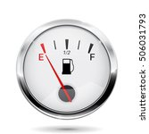 fuel gauge. round gauge with... | Shutterstock .eps vector #506031793
