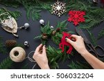 preparation for christmas... | Shutterstock . vector #506032204