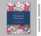 poinsettia wedding invitation...   Shutterstock .eps vector #506033098