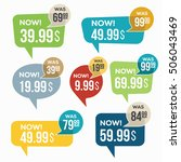 sale stickers. | Shutterstock .eps vector #506043469