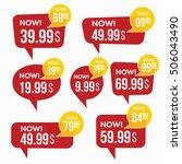 sale stickers. | Shutterstock .eps vector #506043490