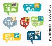 sale stickers. | Shutterstock .eps vector #506043493