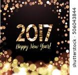 new year card   Shutterstock .eps vector #506043844