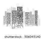 building and city illustration... | Shutterstock .eps vector #506045140
