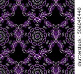 seamless damask pattern.... | Shutterstock .eps vector #506045440
