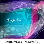 abstract wavy vector design   Shutterstock .eps vector #50605012