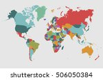 world map countries. world map... | Shutterstock .eps vector #506050384