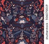 seamless paisley background ... | Shutterstock .eps vector #506070019