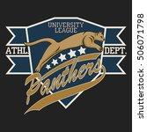 panther sport t shirt graphics  ... | Shutterstock .eps vector #506071798