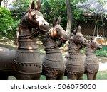 Terra Cotta Horses In Folk Ar...