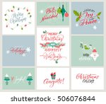 vector alphabet. christmas and... | Shutterstock .eps vector #506076844