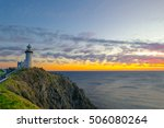 byron bay lighthouse at dawn  ... | Shutterstock . vector #506080264