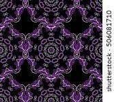 damask seamless floral... | Shutterstock . vector #506081710