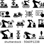 manufacturing plant and factory ... | Shutterstock .eps vector #506091238