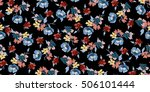 trendy seamless floral pattern... | Shutterstock .eps vector #506101444