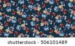 trendy seamless floral pattern... | Shutterstock .eps vector #506101489