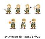 elf set vector illustration... | Shutterstock .eps vector #506117929