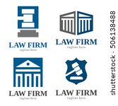 law firm judge logo icon... | Shutterstock .eps vector #506138488