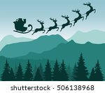 vector illustration of santa... | Shutterstock .eps vector #506138968