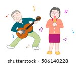 the music concert of the old... | Shutterstock .eps vector #506140228