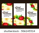 vintage delicate invitation... | Shutterstock .eps vector #506145514