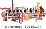 quality of life word cloud... | Shutterstock .eps vector #506151274