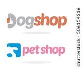 Stock vector pet dog shop logo icon template logo 506154316