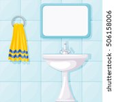 vector illustration of bathroom ... | Shutterstock .eps vector #506158006
