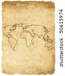vector illustration of worldmap ... | Shutterstock .eps vector #50615974