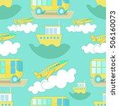 seamless pattern transport bus  ... | Shutterstock .eps vector #506160073