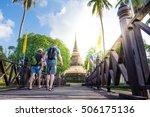 european couples tourists... | Shutterstock . vector #506175136